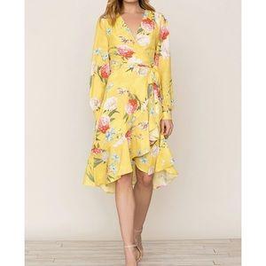 NWT Yumi Kim Vinyasa Long Sleeve Wrap Dress